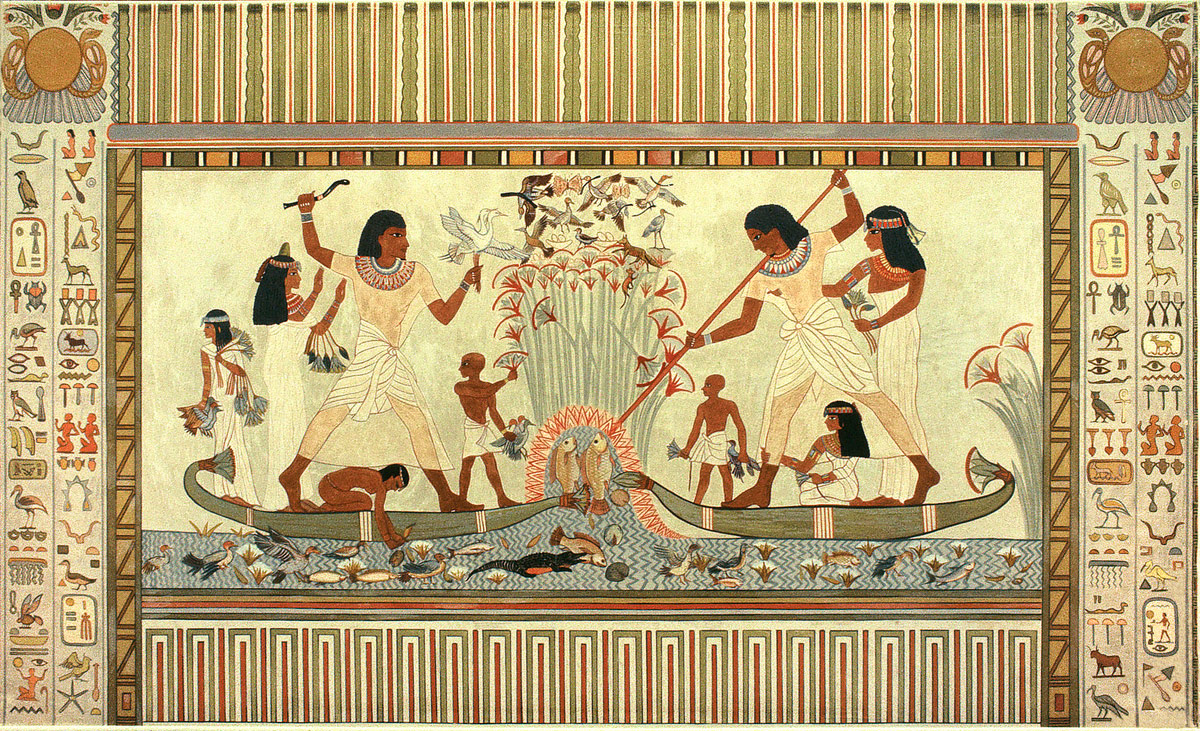 stock photo cleopatra egyptian mural