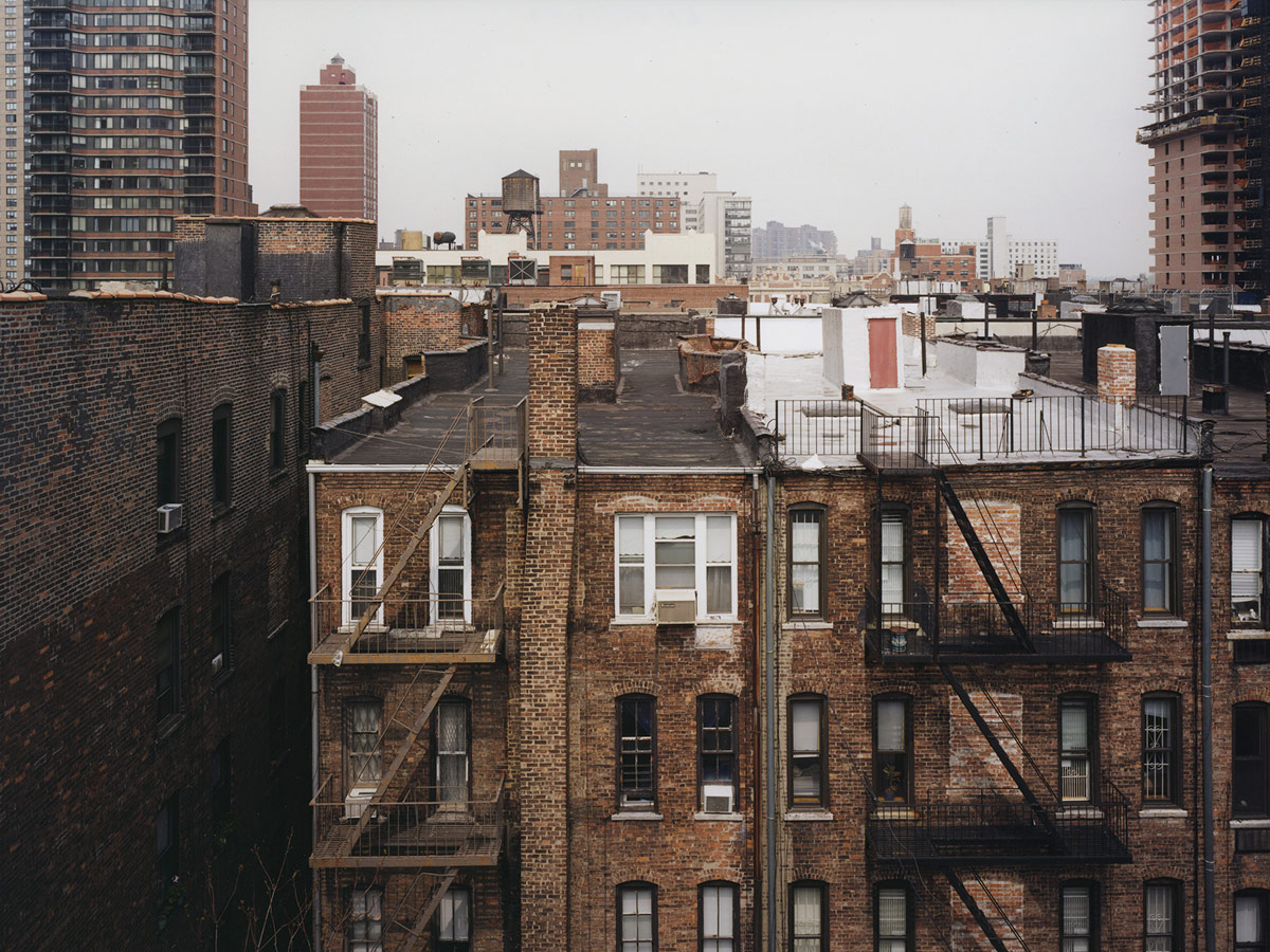 Stock Photo - 6th floor view of red brick NY N.Y. New York