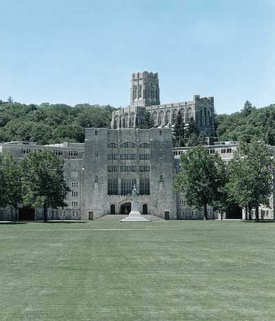 Stock Photo West Point Military Academy In Nj New Jersey From A