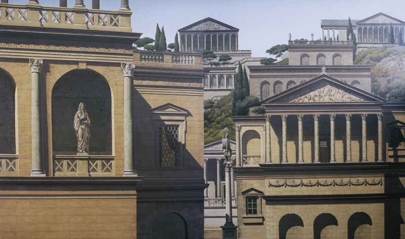 stock photo ancient roman temple style architectural buildings